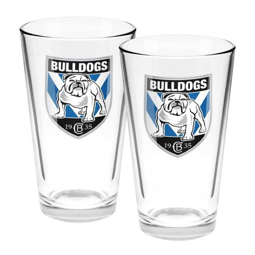 NRL Bulldogs Conical Glasses Set of 2
