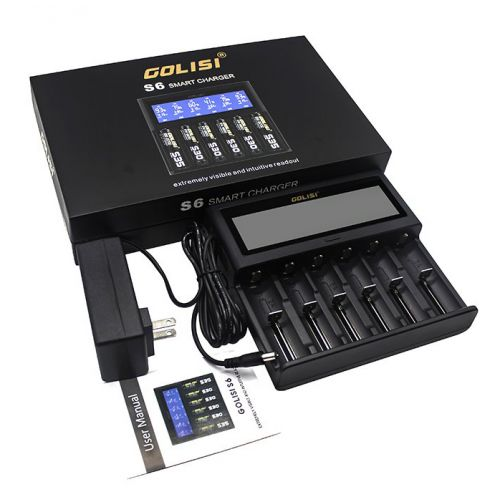 Golisi S6 6-Bay Vape Battery Charger