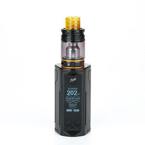 Wismec Reuleaux Rx Gen3 Dual With Gnome King 230W 5.8ml Gloss Black Vape Kit